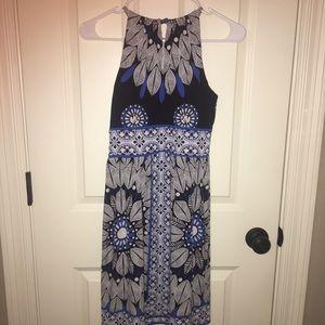 Maggie L, blue & white summer dress, 4P